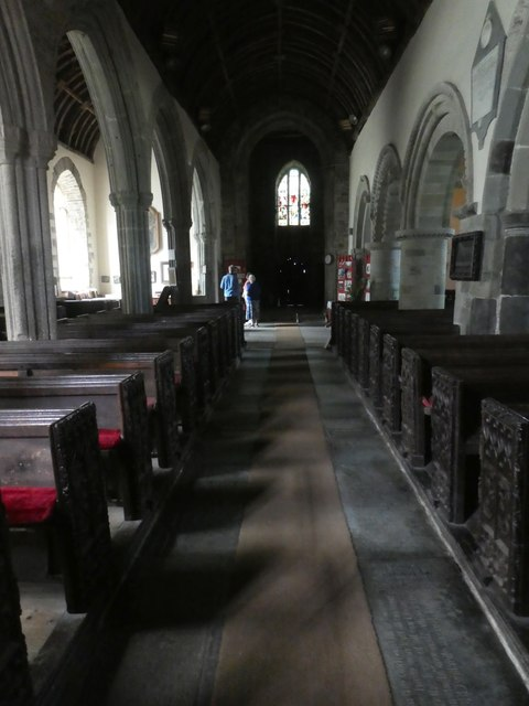 The nave of Morwenstow church