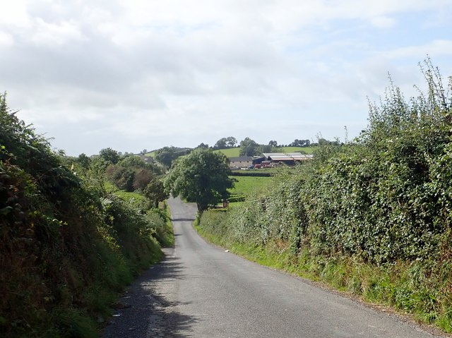 Farm house and buildings on the Foxfield Road