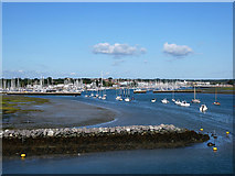 SZ3394 : Breakwater at the entrance to the Lymington Water by John Lucas
