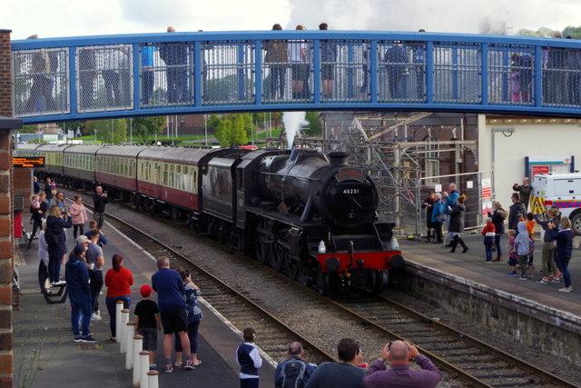 Steam excursion arriving at Llandrindod Wells