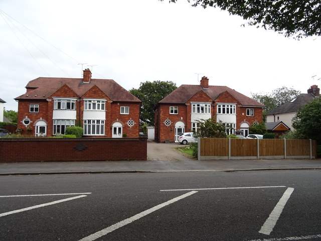 Houses on Eccleshall Road, Stafford
