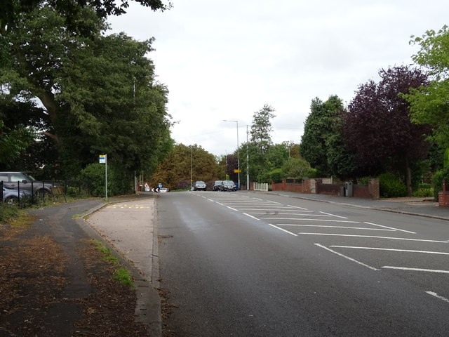 Bus stop and shelter on Eccleshall Road (A5013)
