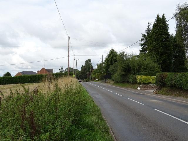 A5013 towards Eccleshall