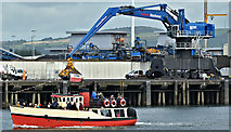 "J3576 : The ""Mona"", Belfast harbour (September 2019) by Albert Bridge"