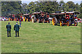 SJ4313 : Shrewsbury Steam Rally - parade of showman's engines by Chris Allen