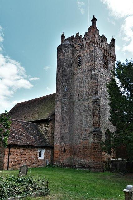 Fryerning, St. Mary's Church: The brick tower