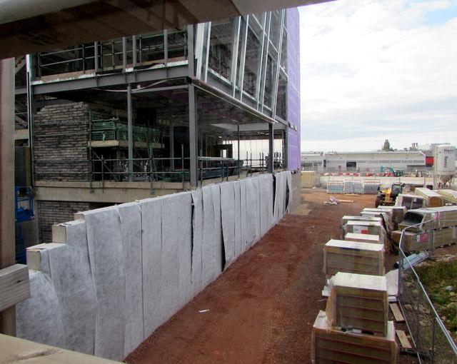 Inside a Cwmbran building site