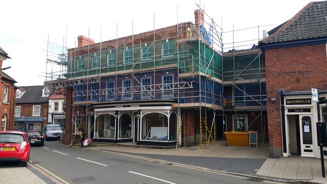 Clarke's store under renovation