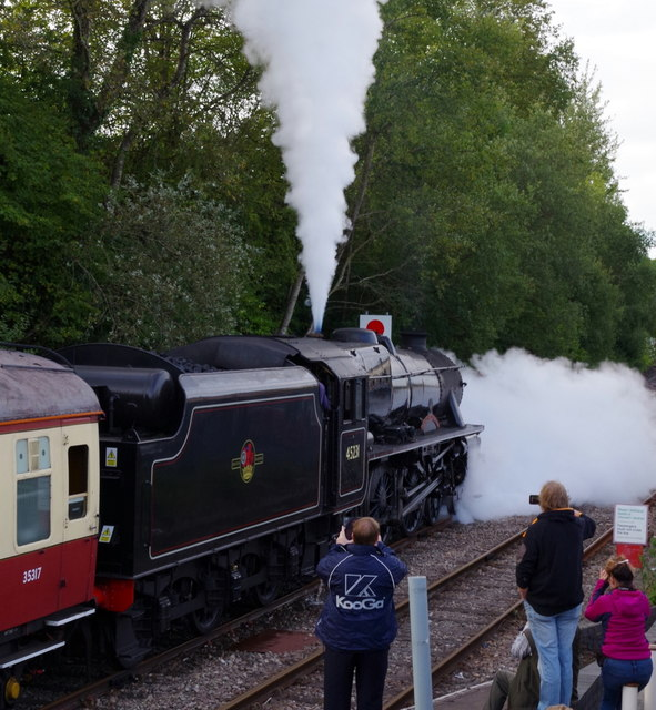 Steam train about to depart Llandrindod Wells station