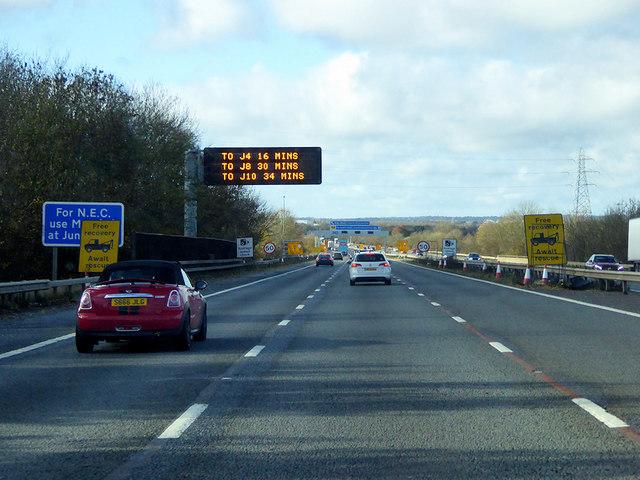 M6 in Warwickshire
