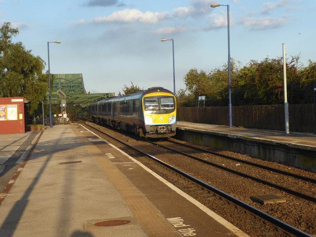 A TransPennine Express passes through Althorpe station