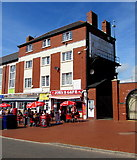 ST1166 : Tables and chairs outside John's Cafe, Friars Road, Barry Island by Jaggery