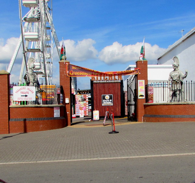Southern entrance to Barry Island Pleasure Park