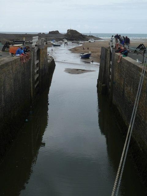 Bude Canal lock