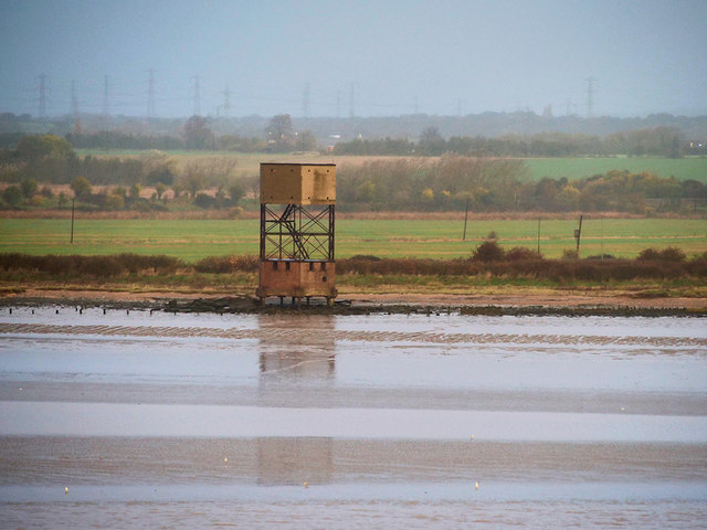 River Thames, Tower and Mudbanks at Coalhouse Point