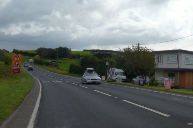 A39 southbound at Middle Penlean