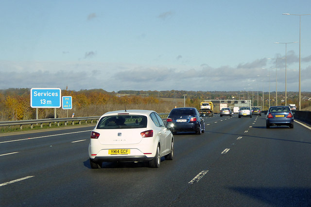 Northbound M1 at Driver Location A40.7