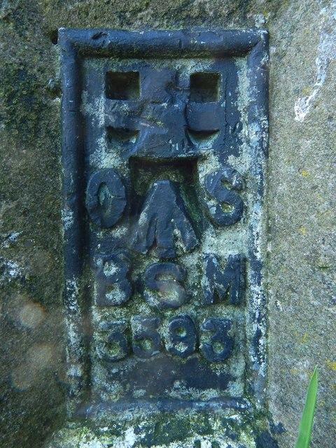 Flush bracket on Hurlet Hill trig point