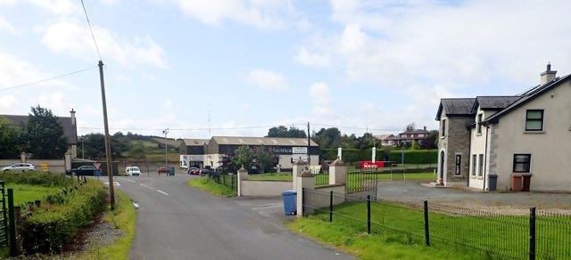 Foxfield Road approaching its junction with the A37 (Concession Road)