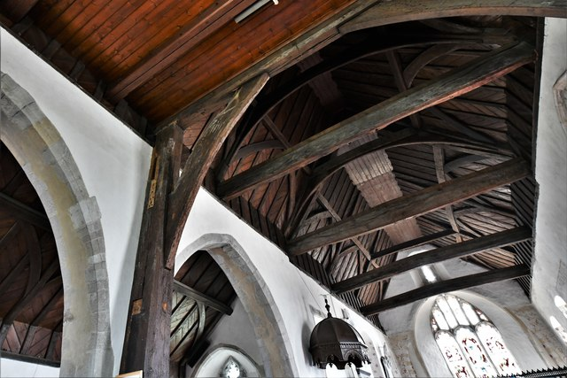 Silchester, St. Mary's Church: Roof detail
