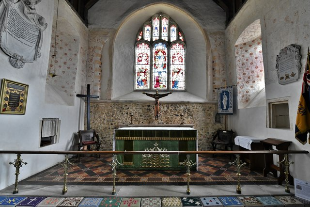 Silchester, St. Mary's Church: The Early English chancel and sanctuary