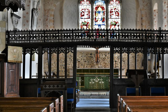 Silchester, St. Mary's Church: The Pre-Reformation screen