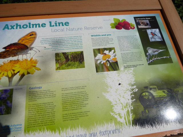 Information board for the former Axholme Joint Railway