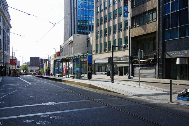 Bull Street tram stop, Bull Street, Birmingham
