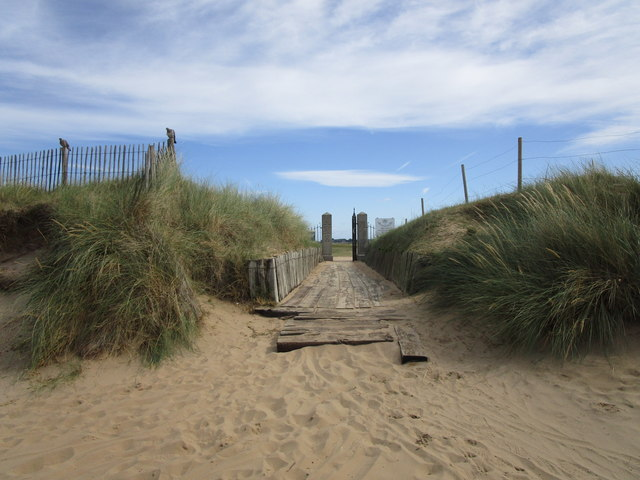 Access to the golf links, Brancaster
