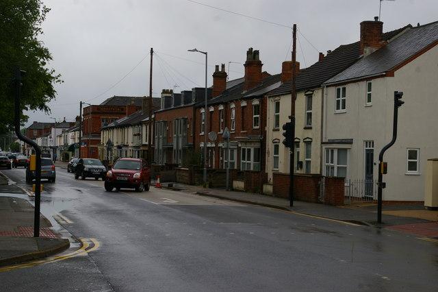 View north along Burton Road, Lincoln