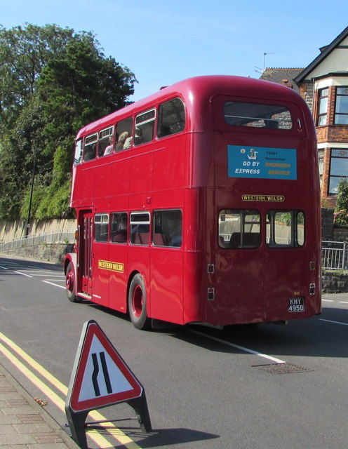 Red double-decker bus, Broad Street, Barry
