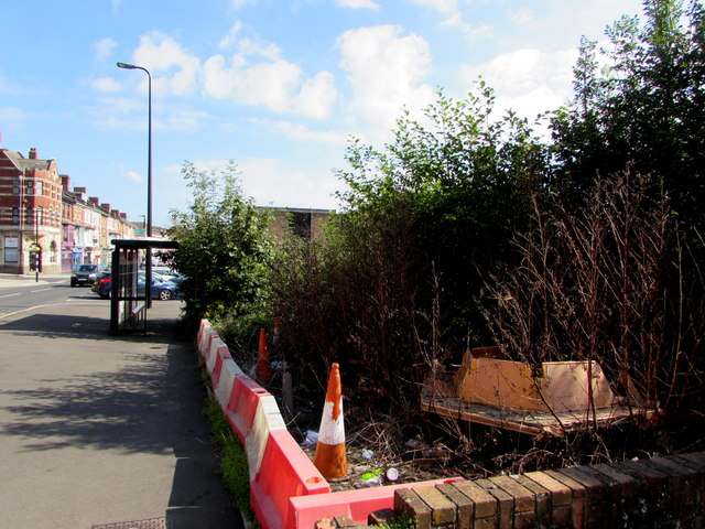 Waste ground on the southeast side of Broad Street, Barry