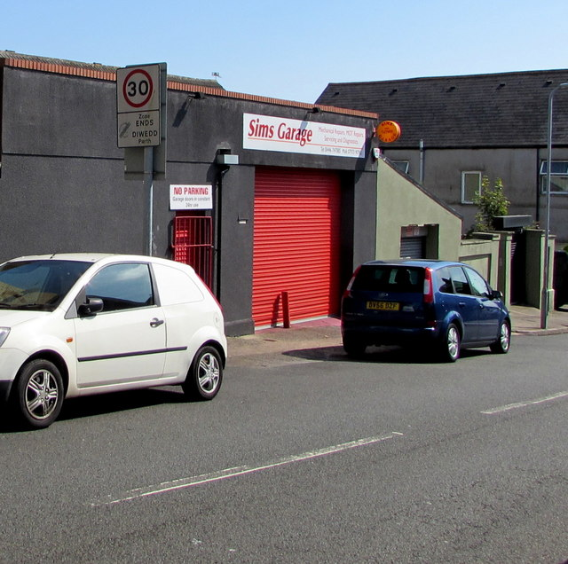 Sims Garage, Trinity Street, Barry