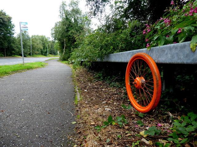 Orange coloured wheel, Campsie
