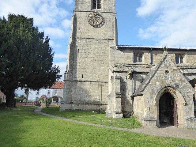 Detail of All Saints Church, Beckingham