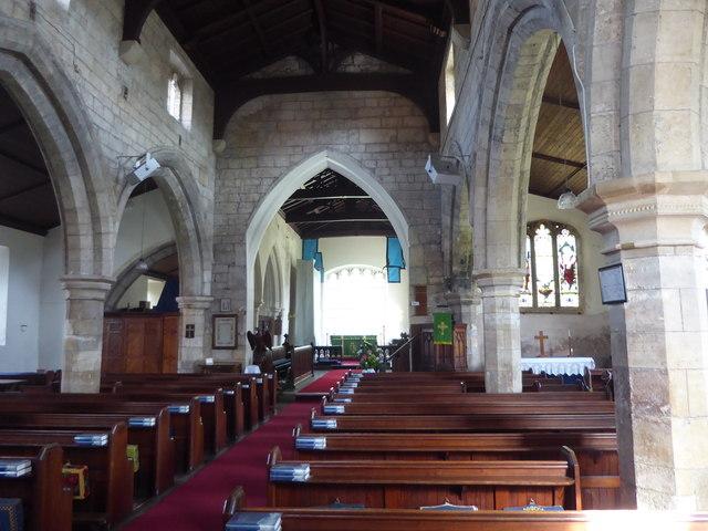 The interior of All Saints Church, Beckingham