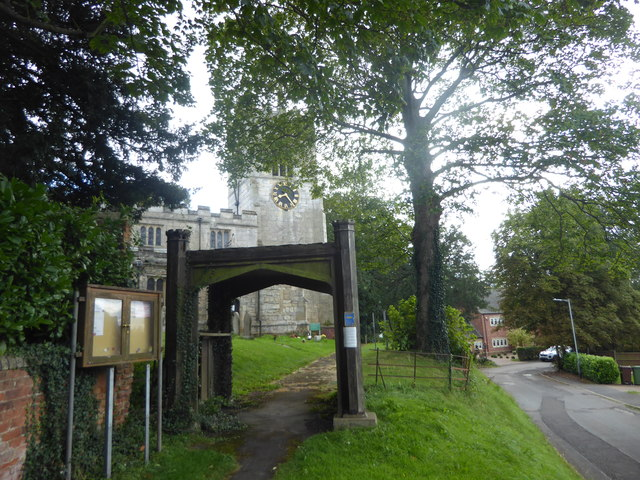 The approach to St Mary Magdalen Church, Walkeringham