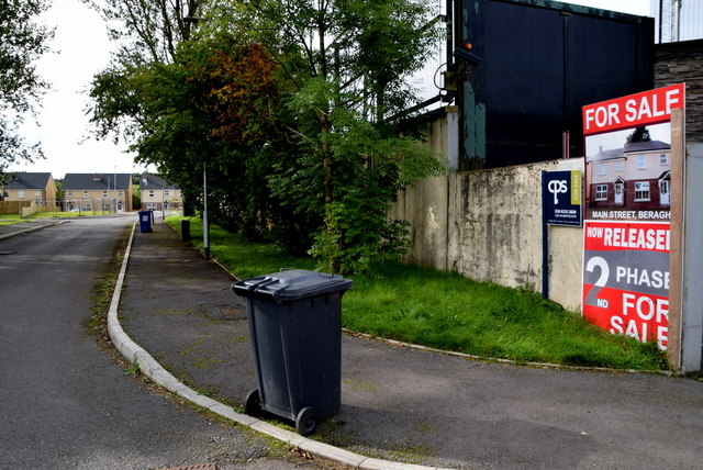 Entrance to new housing development, Beragh