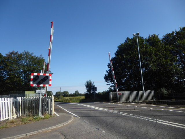 Level crossing on Haxey Gate Road