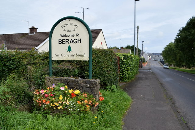 Welcome to Beragh and floral display, Beragh