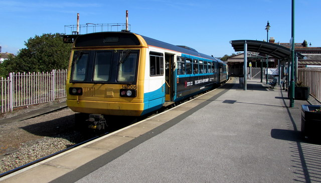 Class 142 dmu at Barry Island station