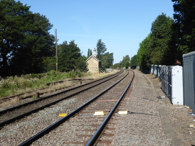 Looking towards the site of the former Haxey & Epworth station