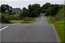 H5366 : Large dip in Moylagh Road by Kenneth  Allen