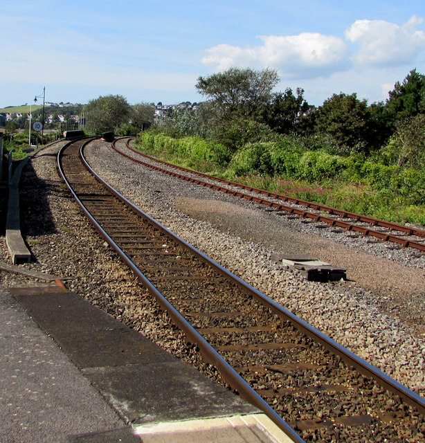 Railway west from Barry Island station