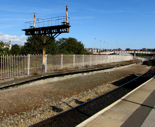 Disused platform at Barry Island station