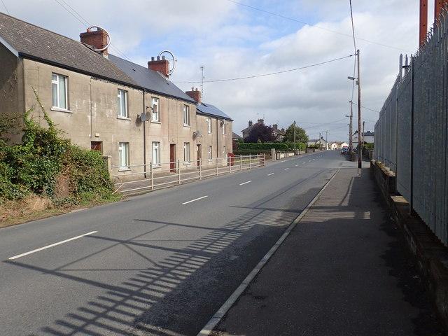Terraced housing on Culloville Road, Crossmaglen