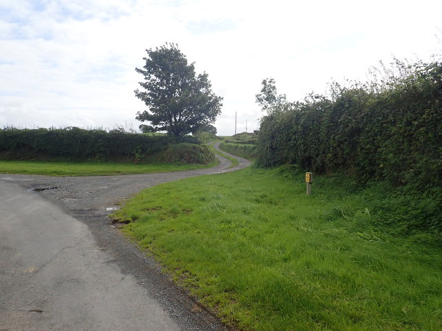 Farm drive leading SE from Lissaraw Road