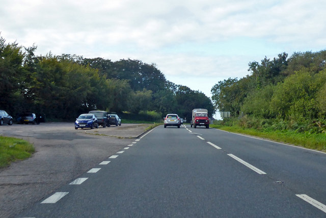 Layby at the end of the A303