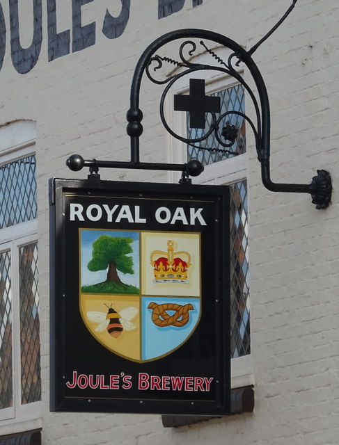 Sign for the Royal Oak, Eccleshall