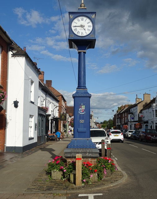 Clock on High Street, Eccleshall